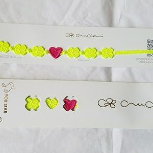 Cruciani Bracelet You Star Lime Rose NIB NEW Auth